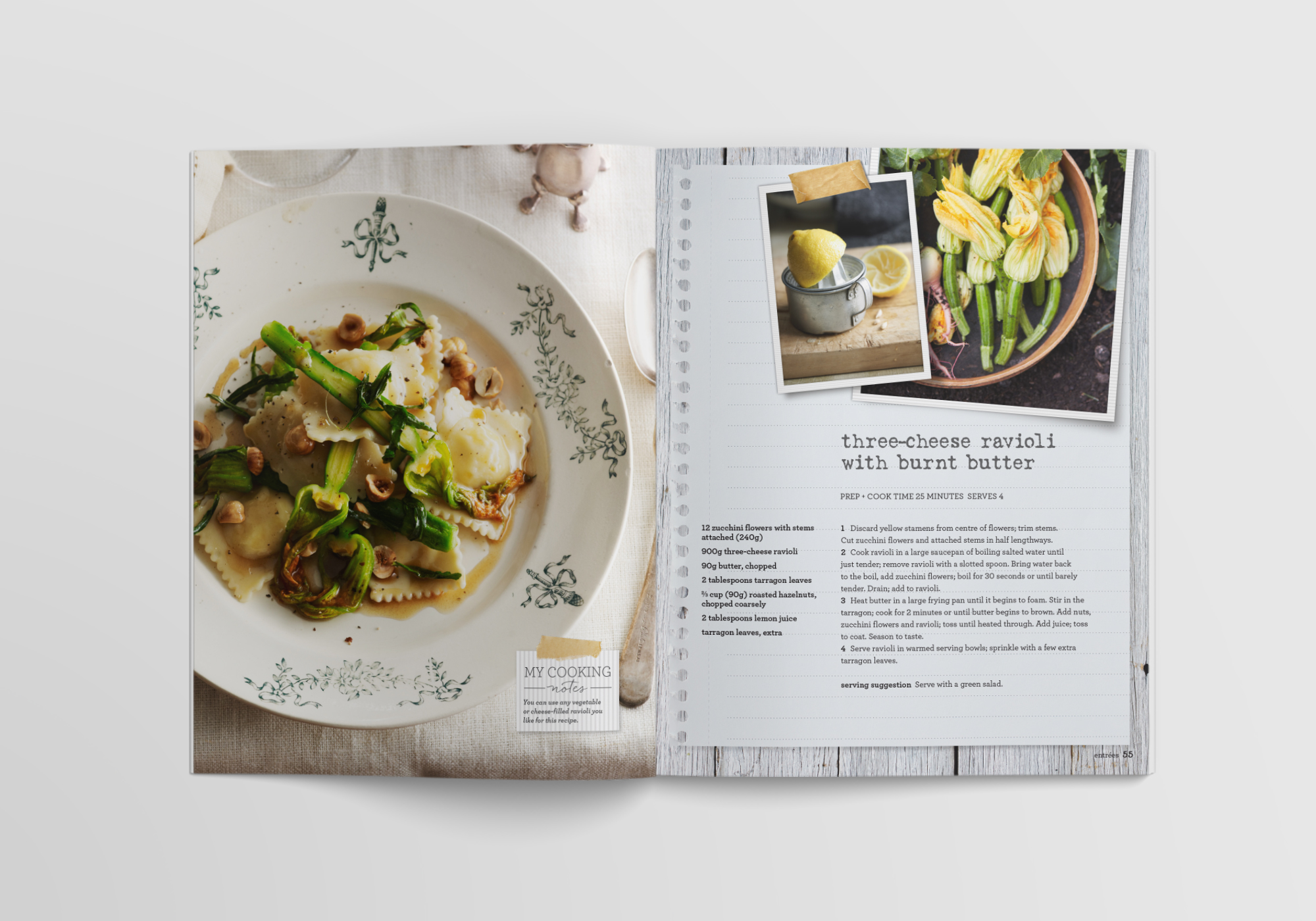 Cookbook concept and design
