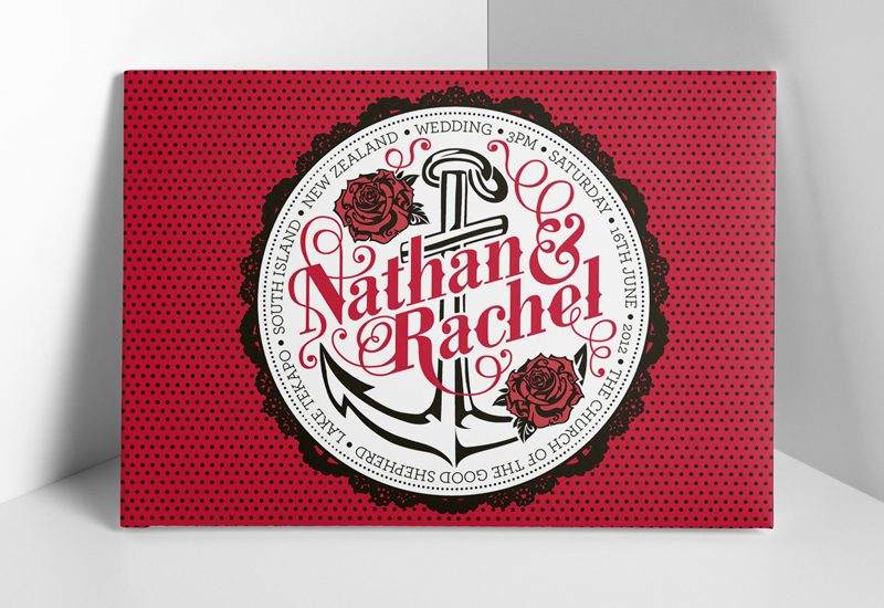vintage wedding invite design