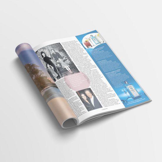 Magazine advertising concept