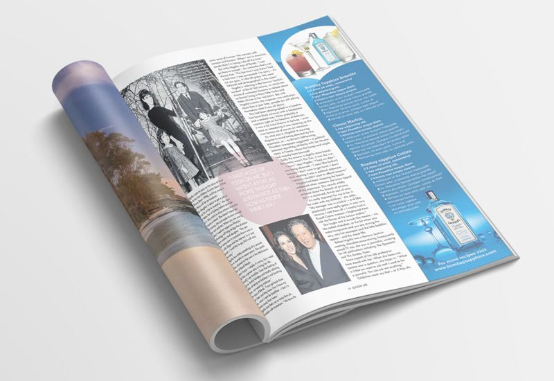 Magazine advertising concept