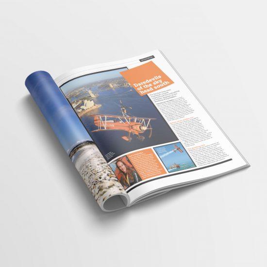 magazine advertorial design