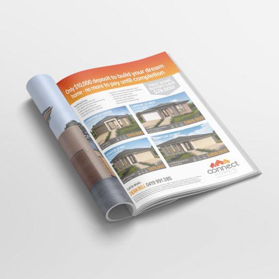 Homebuilder print advertising