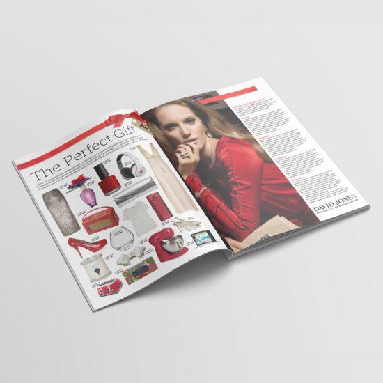 Fashion magazine advertising concept
