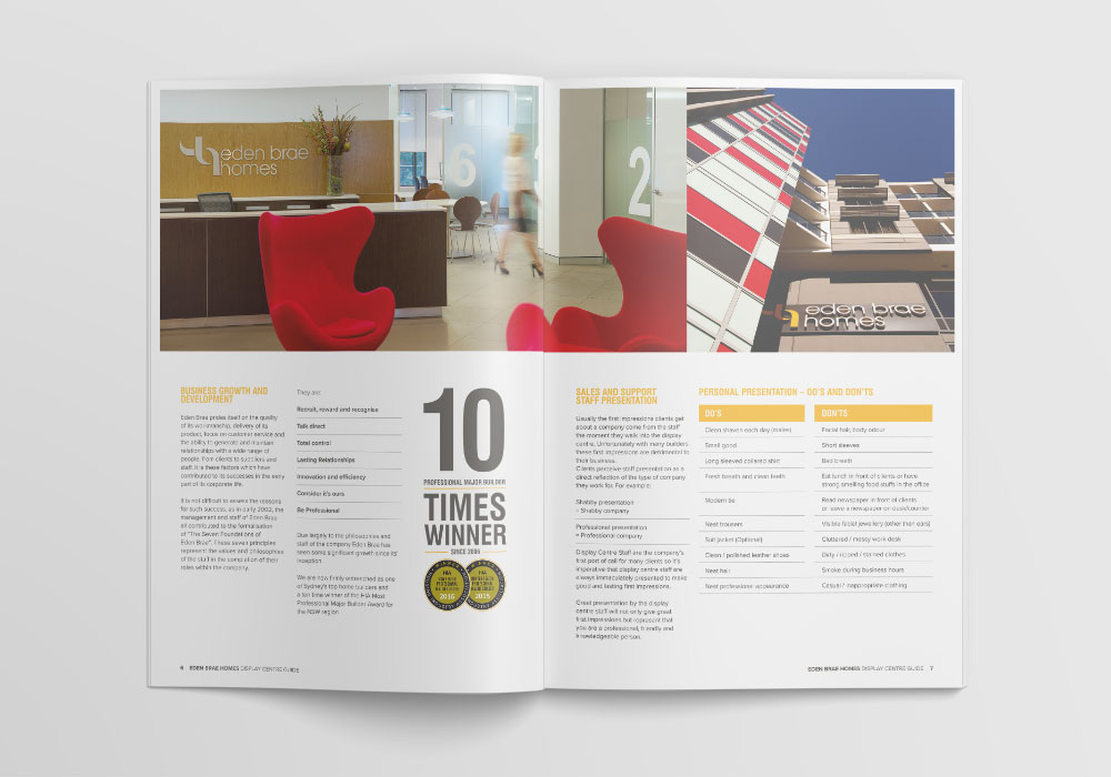 Display home brochure design